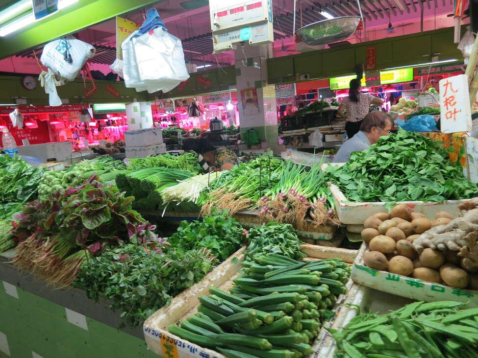 zöldségek standon