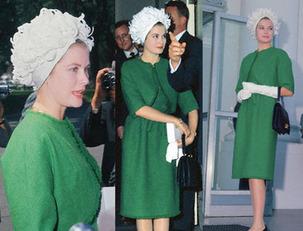 Grace Kelly 1961-ben ebben a Givenchy ruhában tett látogatást a Fehér Házban