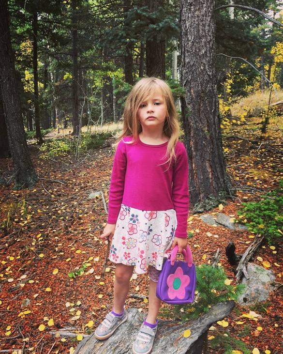 Joelle Wisler író hatéves kislánya