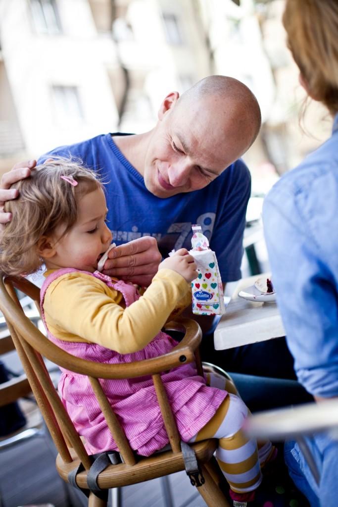 Gusztos Péter és lánya, fotó: Goti Photography